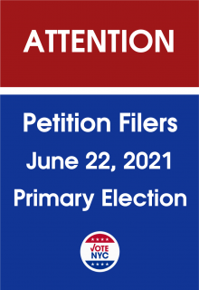 June 2021 Primary Election Petition Filing Information